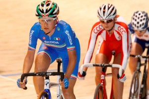 Elena Cecchini in pista a Melbourne (Foto Bettini)
