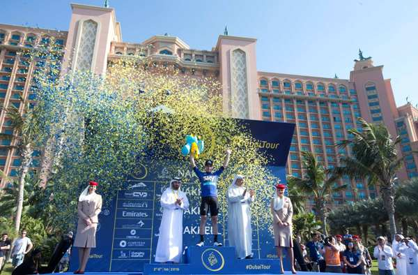 Cycling: Dubai Tour 2016 - Viviani sul Podio