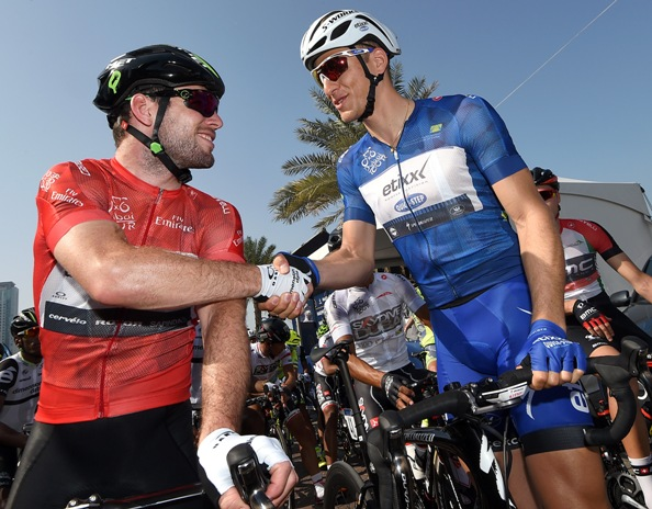 Cycling: Dubai Tour 2016; Mark Cavendish e Marcel Kittel